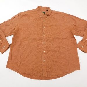 Timberland 2XL Orange Button Down Shirt  Cotton